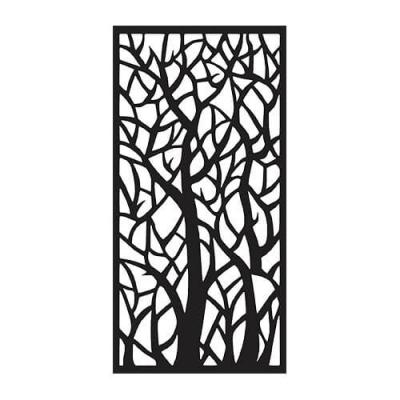 2512-36.0-inch-W-x-72.0-inch-H-Black-Woodland-Aluminum-decorative-Screen