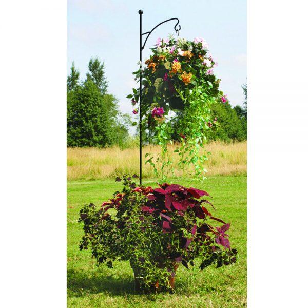 Black Single Shepherd Hook - Garden Decor