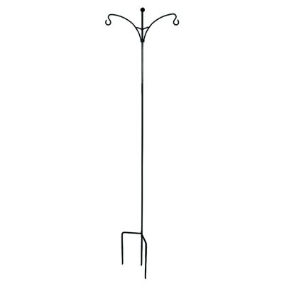 Black Double Shepherd Hook - Garden Decor