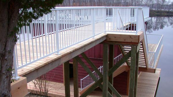 Narrow-high-Stair-White-Picket-Railing