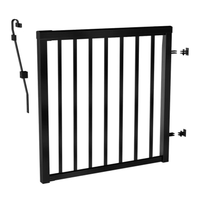 RailBlazers Matte Black Picket Gate 91161