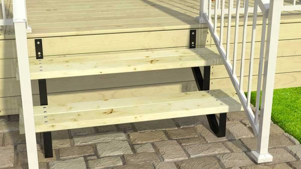 2 Steps Stair Risers life style image close-up in Deck Products