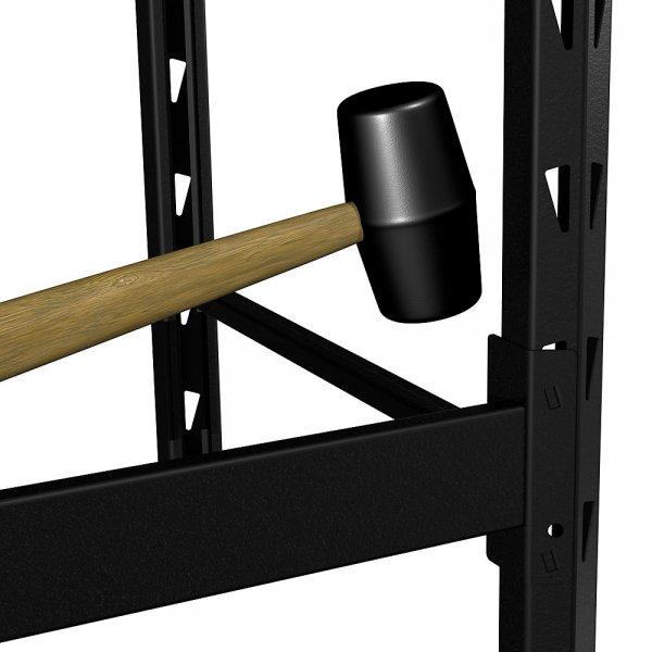 husky 4 shelf metal storage rack starter kit