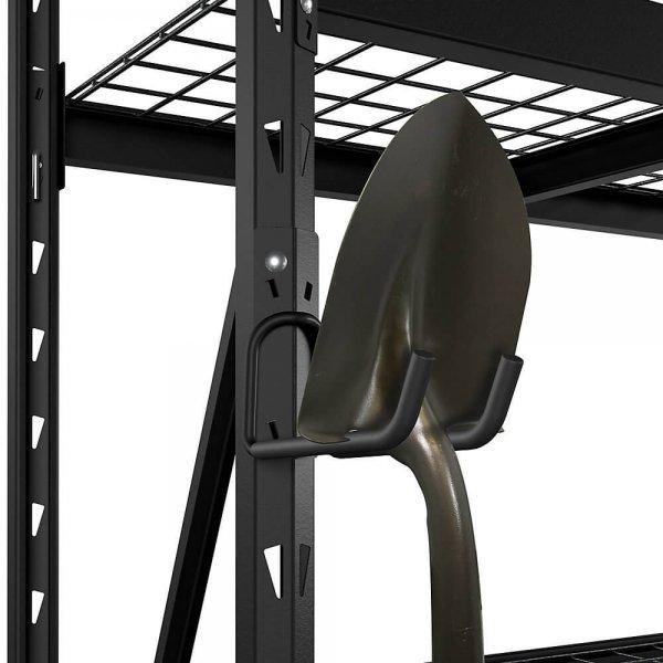 husky metal storage rack 6-inch double hook