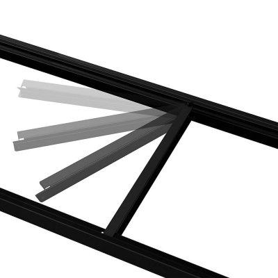 husky metal storage rack beam and brace shelf kit