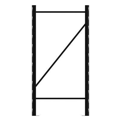 husky metal storage rack upright