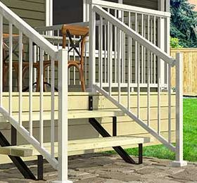 2 steps Steel Stair Risers