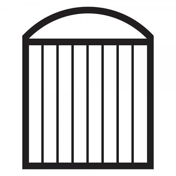 Veranda Arched Aluminum Deck Gate in Black