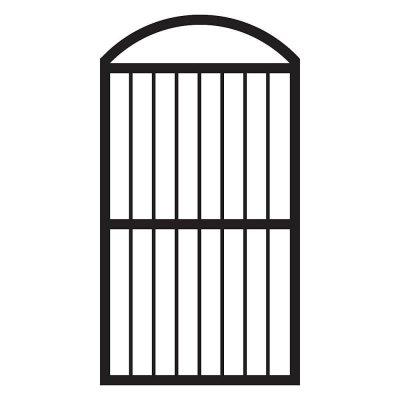 veranda arched fence gate in black finish 681461
