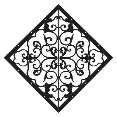 Veranda Diamond Fence and Gate Accent