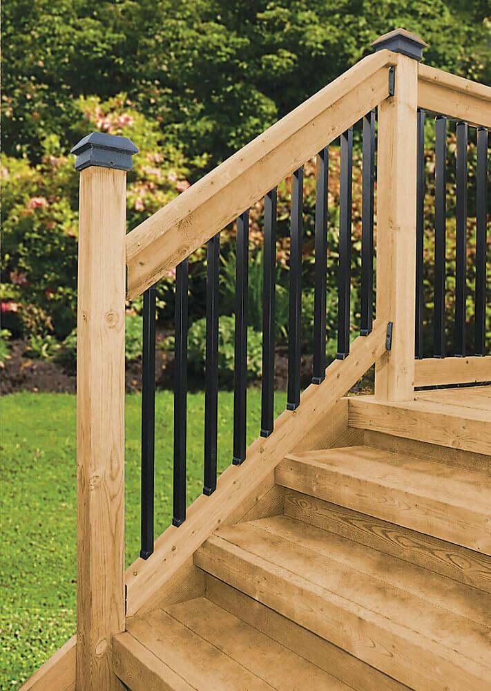 Veranda Deck Stair Railing Kits - Rectangular Balusters
